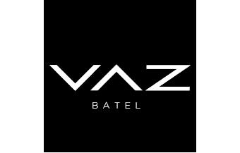 circurferência com opacidade escrito VAZ Batel